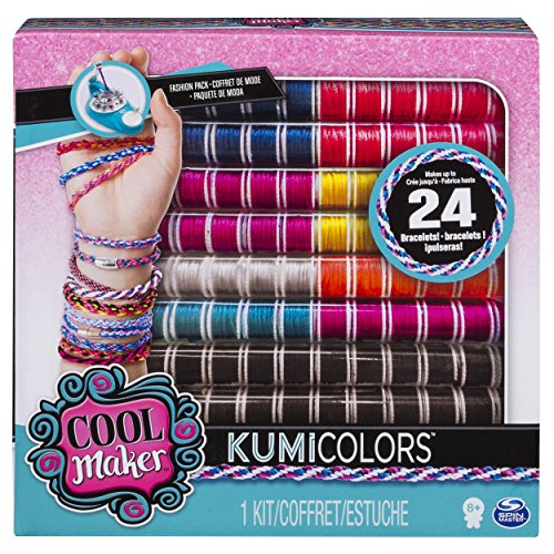 Cool Maker - KumiColors Fantasy & Neons Fashion Pack, Makes Up to 24 Bracelets with the KumiKreator, for Ages 8 and Up]()