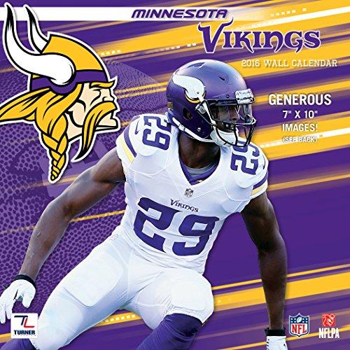 Turner Minnesota Vikings 2016 Mini Wall Calendar, September 2015-December 2016, 7 x 7