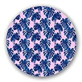 Uneekee Tropical Palm Leaves Lazy Susan: Large, Light Bamboo Turntable Kitchen Storage