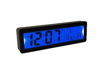 Fisura CL0827 Reloj Despertador Digital Grande, Pantalla LCD ...