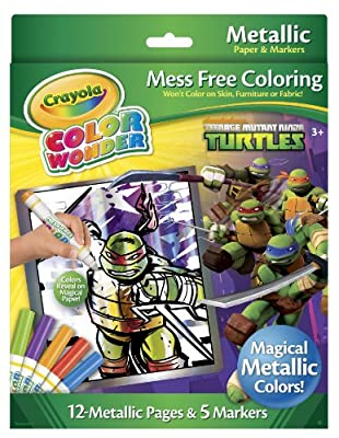 Crayola Color Wonder Teenage Mutant Ninja Turtles Metallic Paper And Markers by Crayola