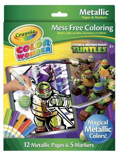 Ninja Turtle Colors (Crayola Color Wonder Teenage Mutant Ninja Turtles Metallic Paper and Markers)