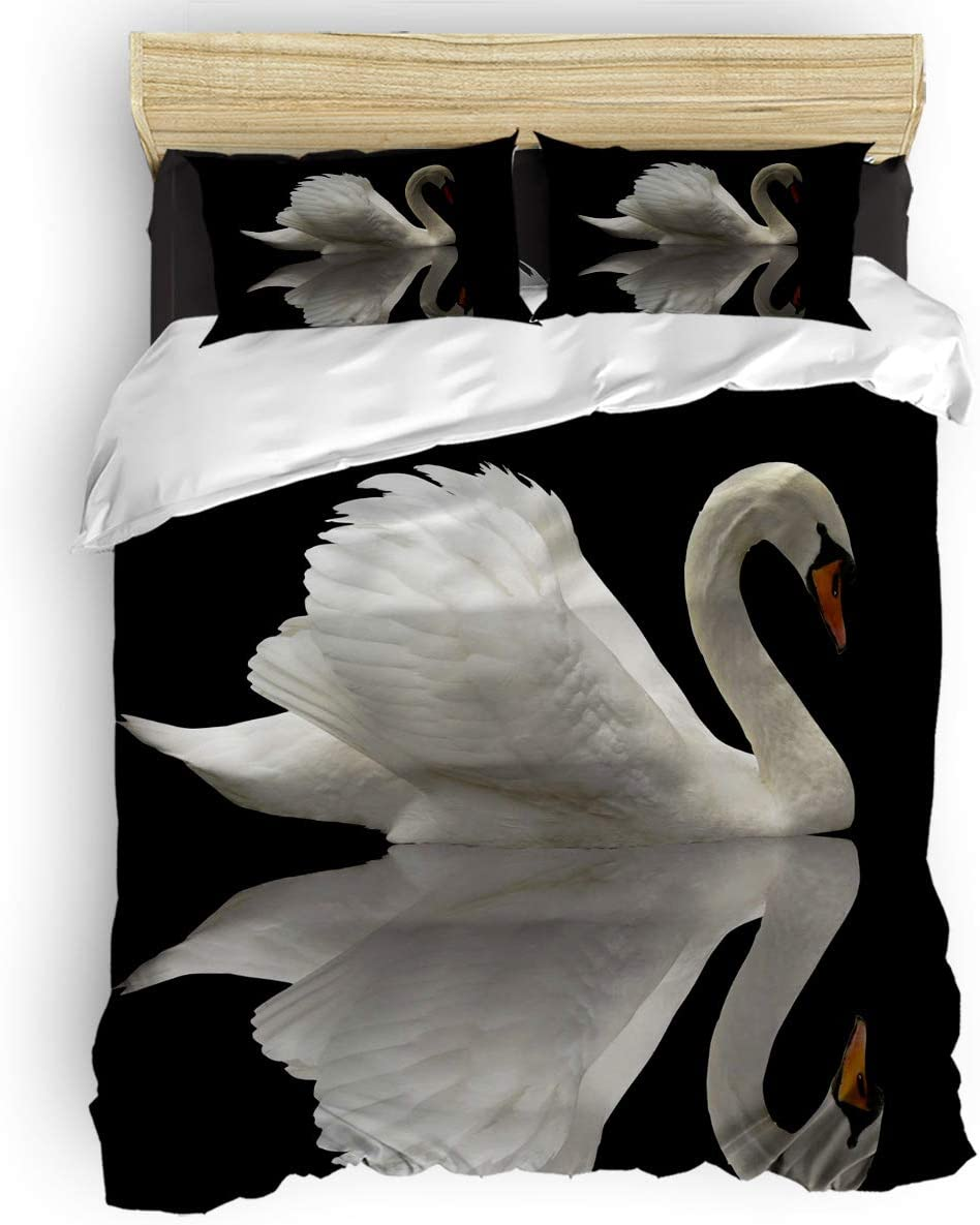 ultra-soft-set-with-beautiful-3D-swan-for-kids-adults