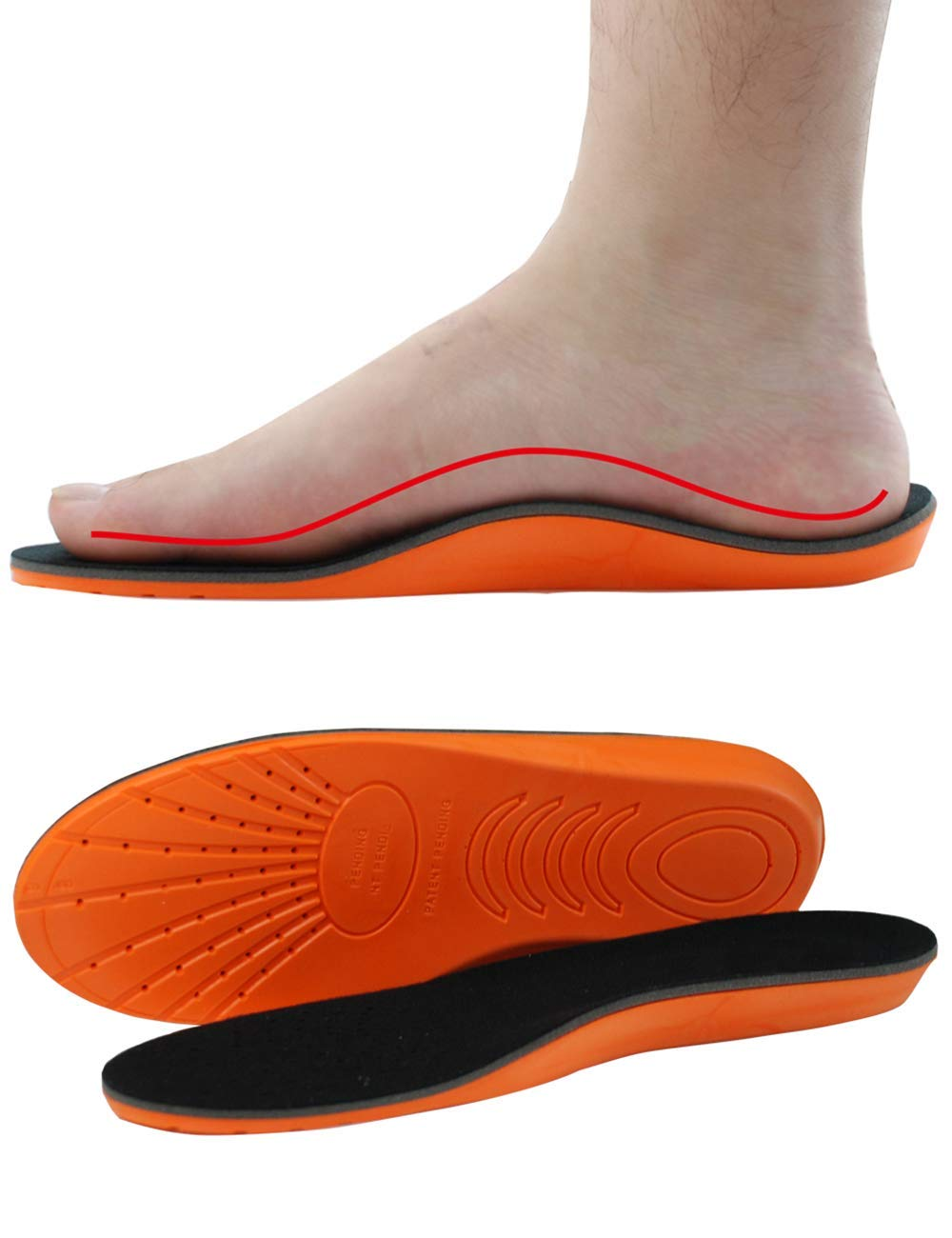 Soft Shoe Insoles Orthopedic Memory Foam Sport Arch Support Insert Soles Pad Y3