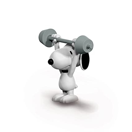 1381a912ad Amazon.com  Schleich Peanuts Weightlifter Snoopy Toy Figure ...