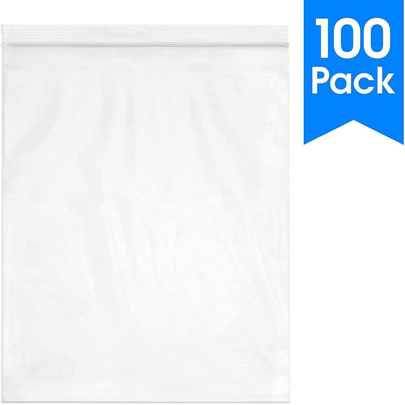 """6/"""" X 9/"""" Spartan Industrial    100 Count More Sizes Available 4 Mil Heavy Duty Clear Plastic Reclosable Zip Poly Bags with Resealable Lock Seal Zipper"""