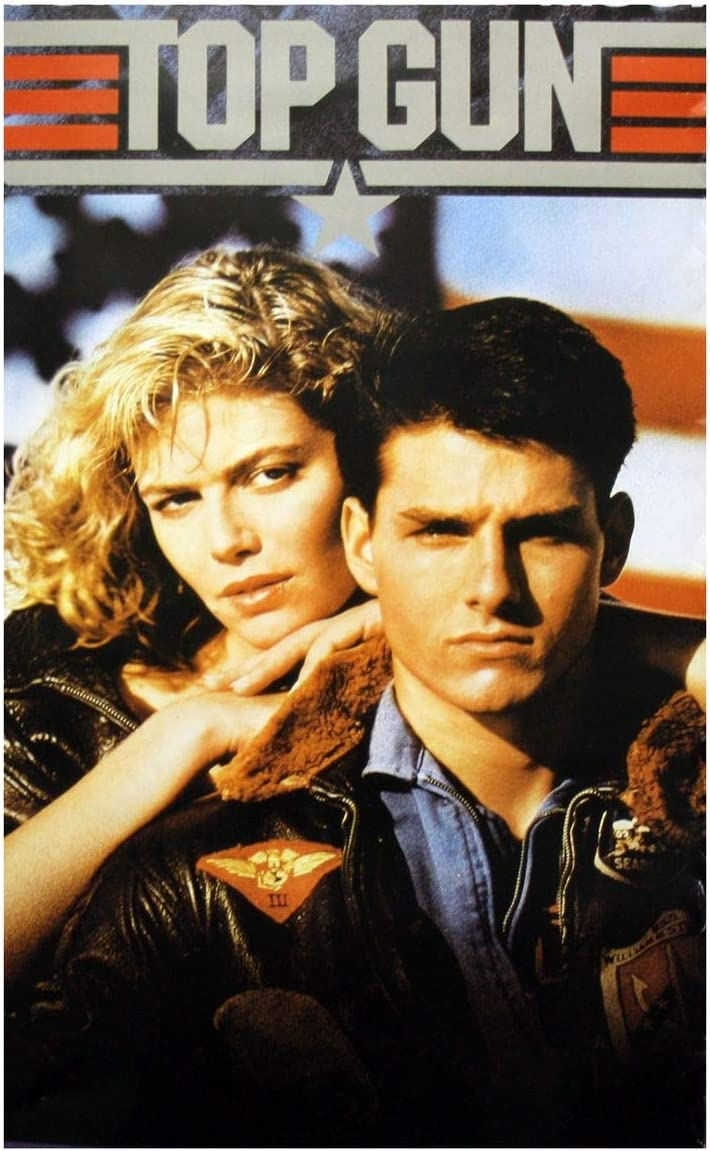 Top Gun Movie Tom Cruise and Kelly McGillis 80s Poster Print, 12