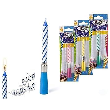 Color Baby - Vela de cumpleaños musical (46050): Amazon.es ...