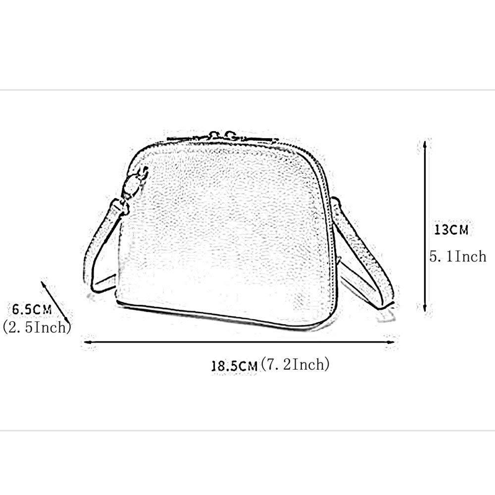 Color : Black, Size : Medium FYH Womens Fashionable Mini Zipper Shoulder Bag Leather Girls Bag Crossbody Bag Handbag