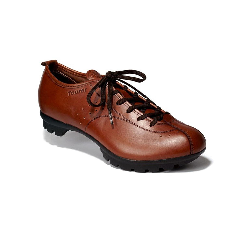 Quoc Pham Tourer Tan Braun Leder Fahrradschuhe Urban Leder Schuh, 41100110, Schuhgröße 42