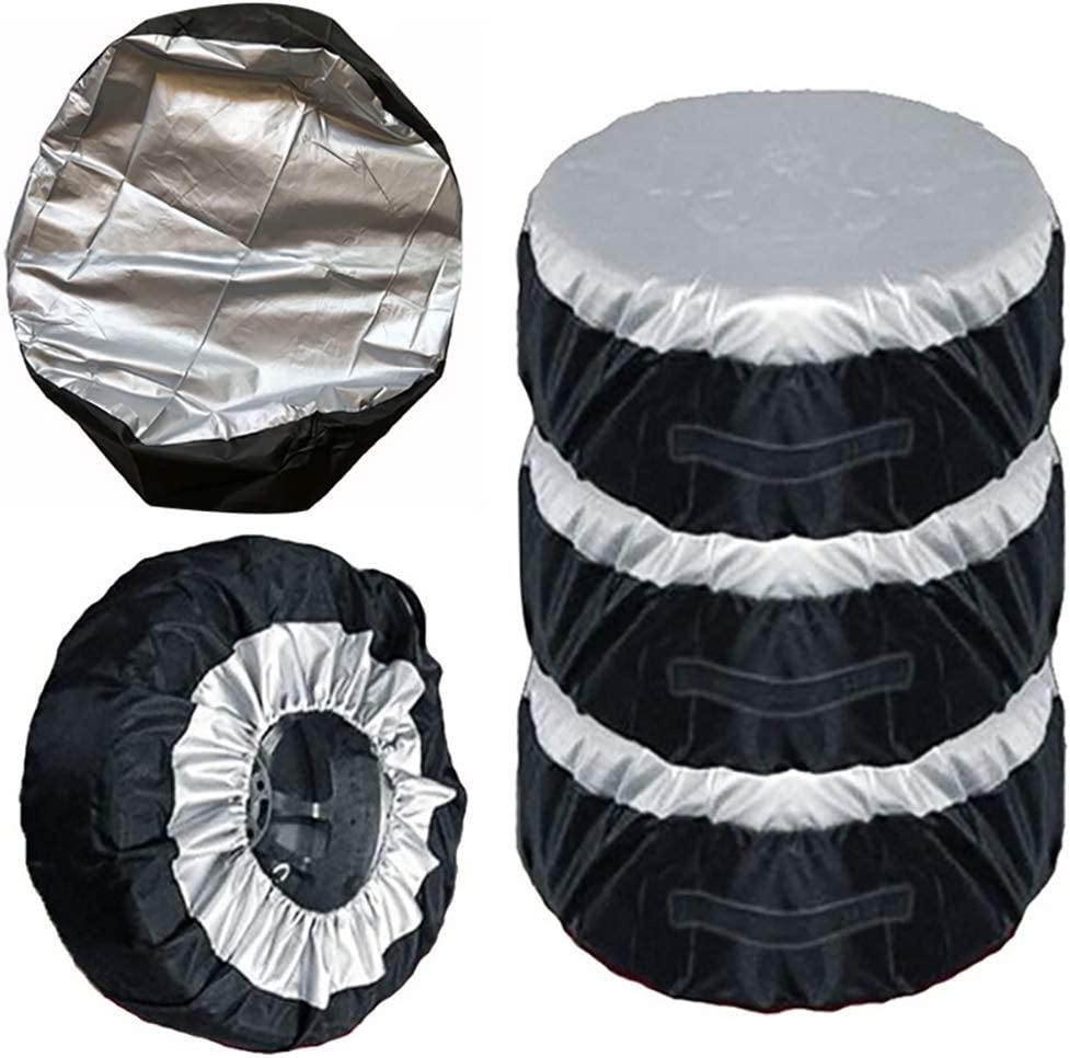 Grebest Tire Cover Car Cleaning and Maintenance Cover Car Auto SUV Spare Tire Tyre Protection Cover Storage Bag Carry Tote Accessory 80cm