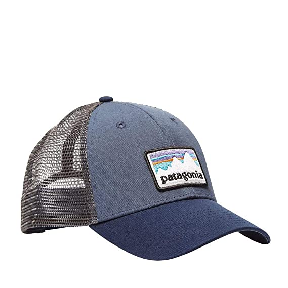 f31163baee551 Patagonia Hats Shop Sticker Patch LoPro Trucker Cap - Blue: Amazon.co.uk:  Clothing