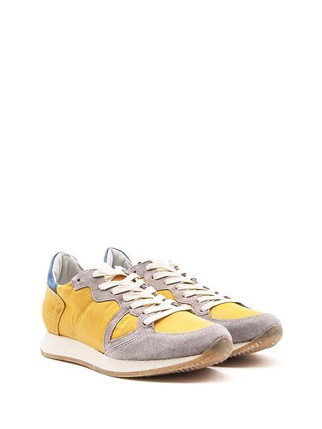 b4a96c123a Philippe Model Sneakers Uomo MVLUSY03 Camoscio Giallo: Amazon.it ...