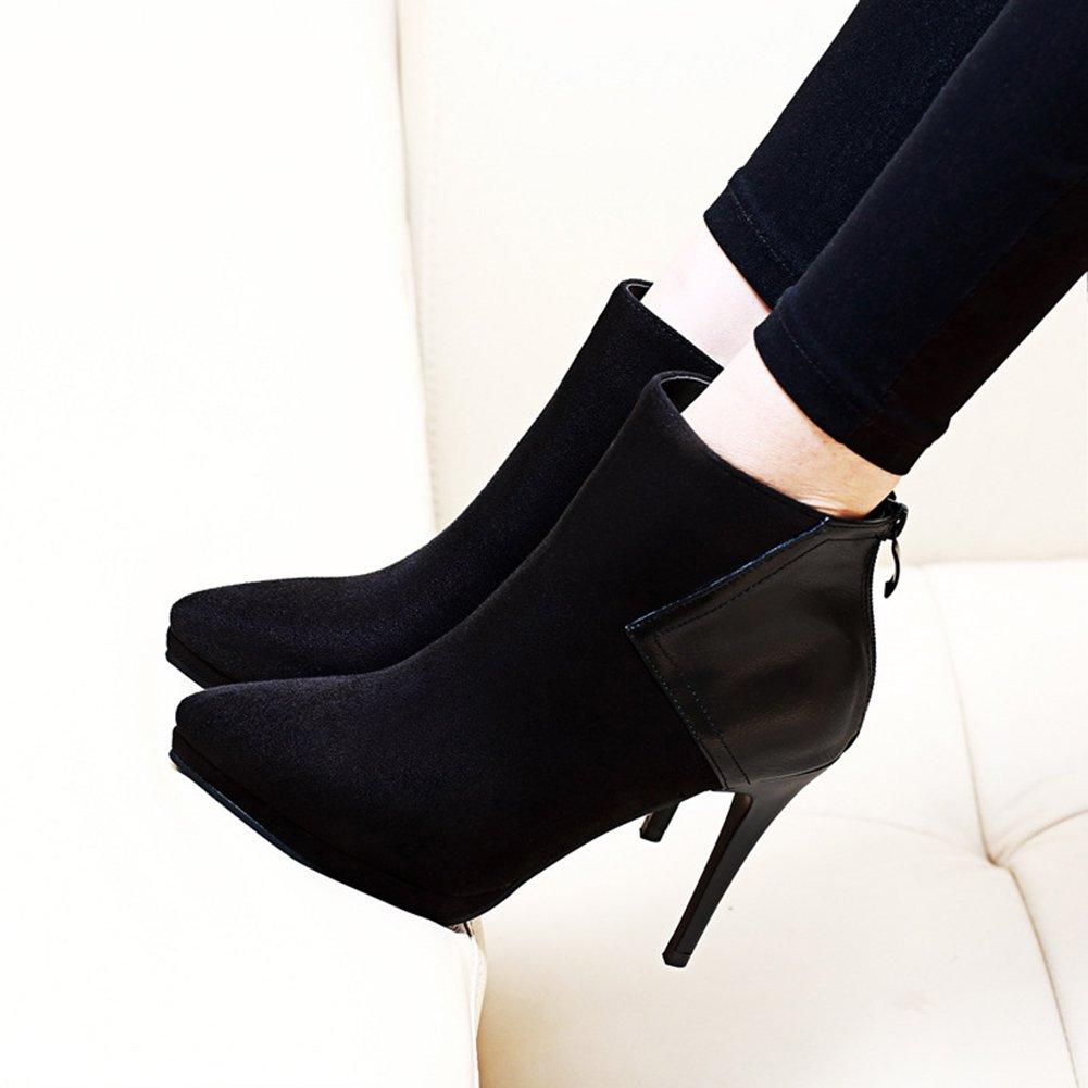 Aisun Damen Sexy Spitz Zehen Plateau Stiletto High Heels Kurzschaft Kurzschaft Kurzschaft Stiefel Mit Reißverschluss 91ab5e