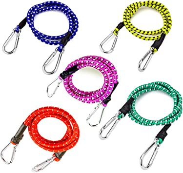 """2 x BUNGEE CORDS 36/"""" Long Elastic Tent Tarp Tie Down Stretch Luggage Boat Strap"""