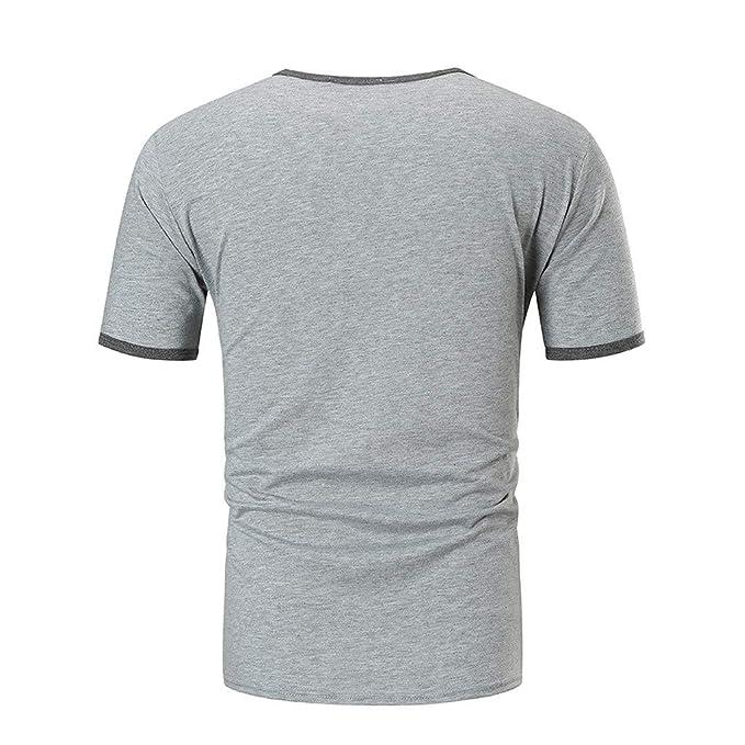 Marlene1988 Camisetas Hombre Manga Corta Básica tee Shirt Casual con Cuello Redondo Cosida Top Slim Fit Fitness Polos Sudadera Armour Camisas de Tirantes ...