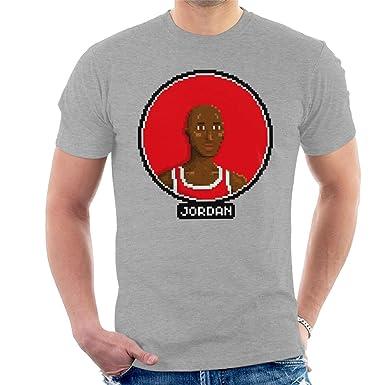 d8a40d464c7070 Michael Jordan Portrait Pixel Men s T-Shirt. Roll over image to zoom in. Cloud  City 7