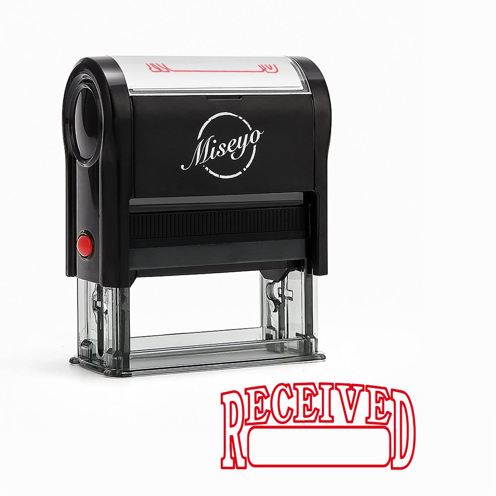 Miseyo Received Self Inking Rubber Stamp - Red Ink