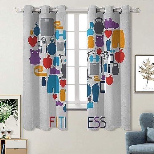 Fitness Room Darkened Heat Insulation Curtain