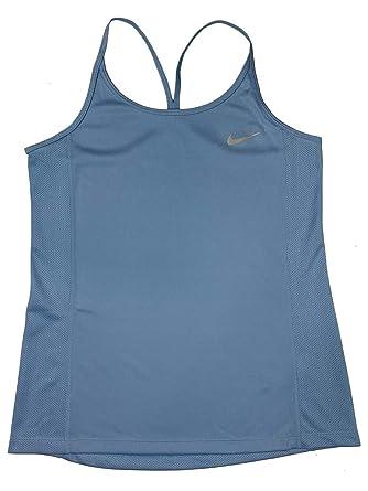 dc94f14f64aa5 Nike Dry Women's Dri-Fit Running Tank Top Shirt Light Blue AJ4684 ...