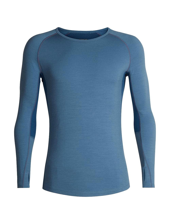 Merino Wool Icebreaker Merino Mens Zone Midweight Base Layer Long Sleeve Crew Neck Shirt