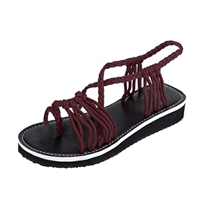 0e0c00bfa4d0 Theshy Shoes Women Flip Flops Sandals Summer Shoes Woven Strap Fashion  Beach Shoes Slippers