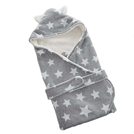 Manta bebé recién nacido multiuso saco envoltura gruesa bebé saco de dormir cá