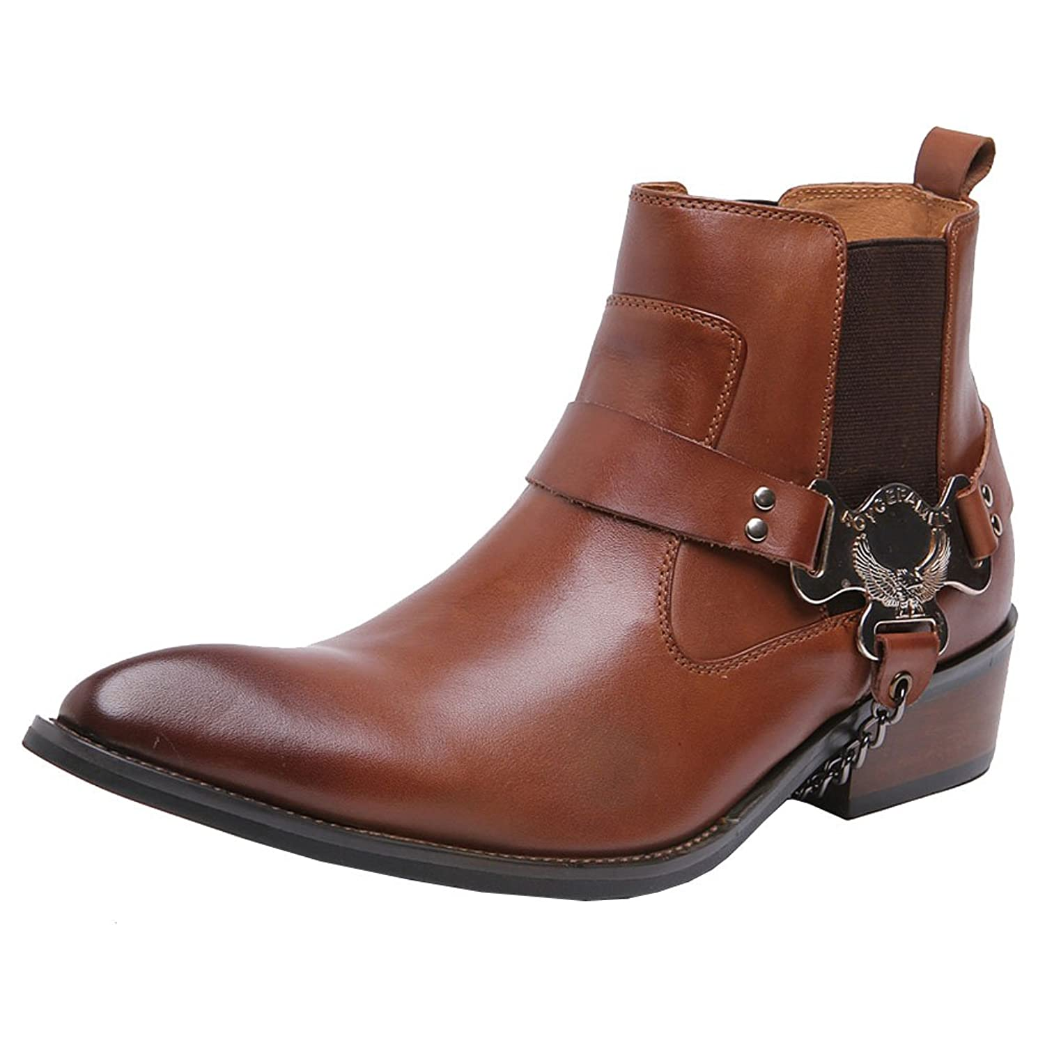 Wuf Real Leather Men's Ankle Boots Western