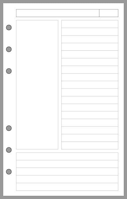 Amazon Compact Size Notes Pages Planner Insert Sized And Punched For Franklin Covey Notebook 425 X 675 Office Products