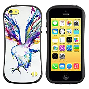 LASTONE PHONE CASE / Suave Silicona Caso Carcasa de Caucho Funda para Apple Iphone 5C / Blue Jay Watercolor Art Painting