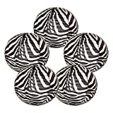 Just Artifacts 16'' Black and White Zebra Chinese Japanese Paper Lanterns (Set of 5) - Click for more Chinese/Japanese Paper Lantern Colors & Sizes!