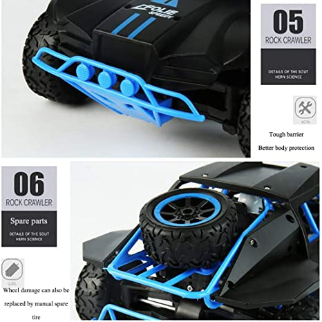 Amazon.com: MZL Remote Control car 1/18 Ratio 4WD high Speed car 2.4Ghz Wireless Remote Control Off-Road Racing Monster Truck Fast Electric Race Desert ...