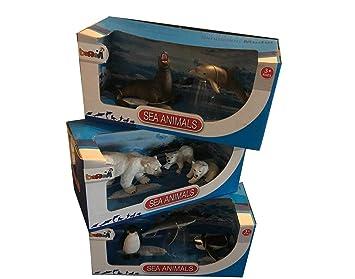Hayvanları Tanıyalım Deniz Hayvanları Seti özel Seri 3 Kutu