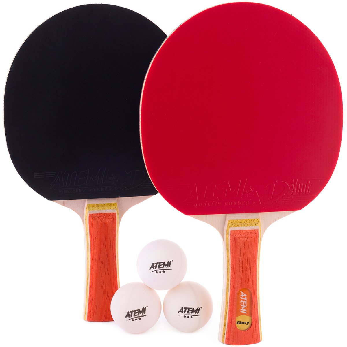 Atemi Sniper 5-Star Table Tennis Bat Bundle  (3-Piece Set ) 5-Ply Ping Pong  Racket ... 9c11cb355c681