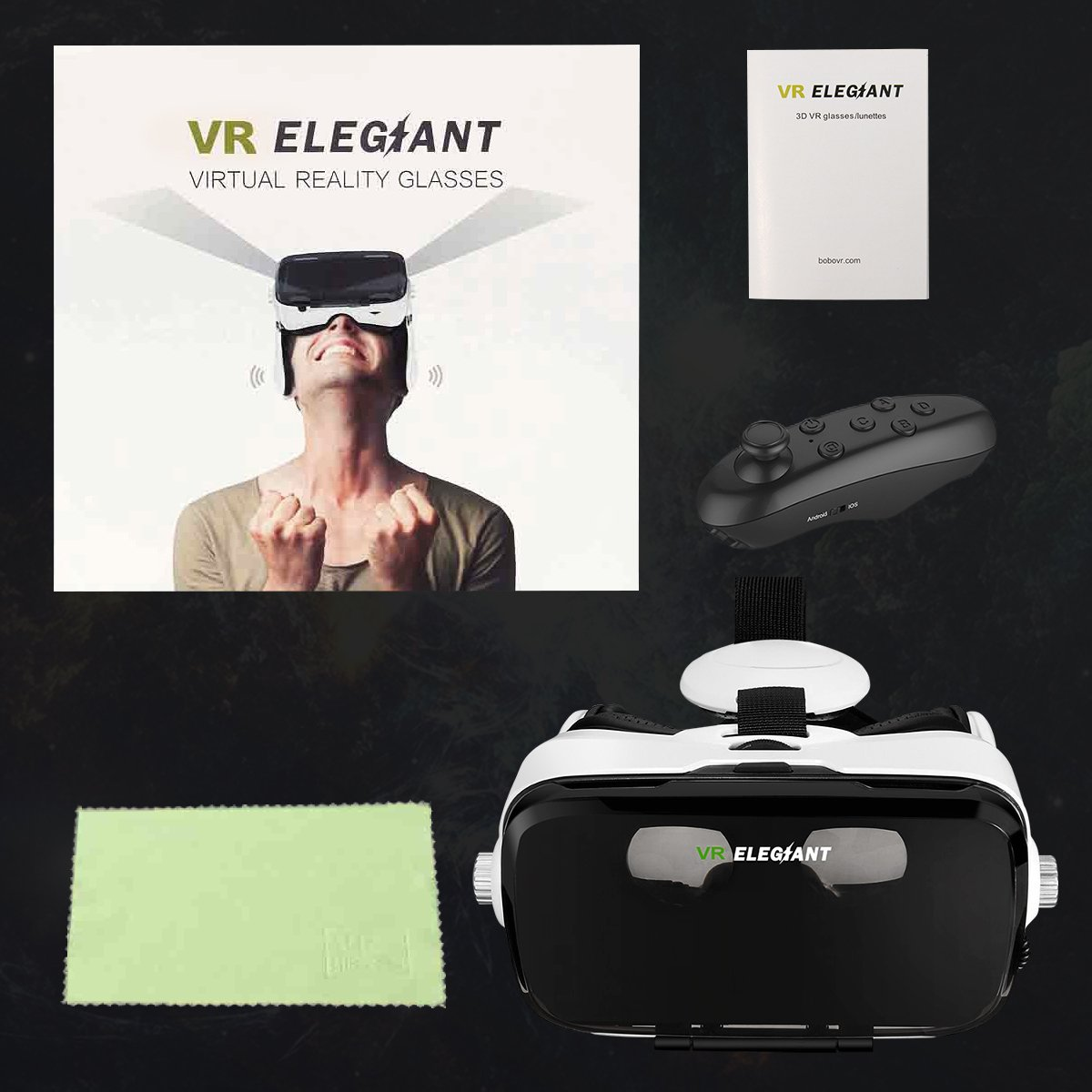ELEGIANT VR Headset, 3D VR Glasses, Virtual Reality Headset Built-in Headphone by ELEGIANT (Image #8)