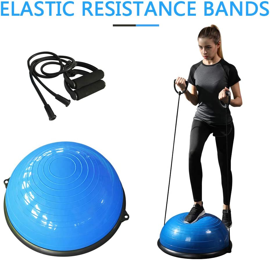 Chendunchishi Bola de Yoga Bola de Yoga engrosamiento bola de equilibrio estable Pilates Barbell bola de la aptitud equipo de Fitness Yoga Bomba de aire de Regalo /Pelota de Yoga