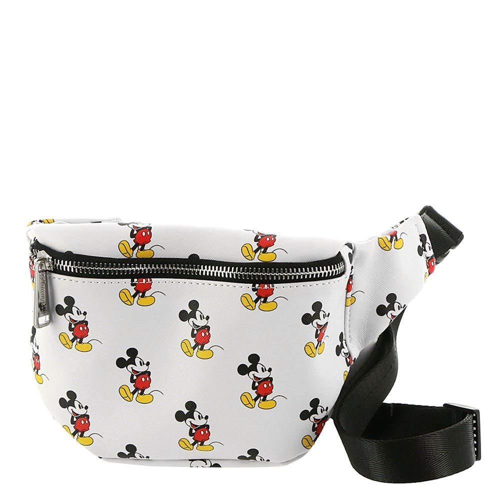 Loungefly Disney Mickey Mouse White Faux Leather Fanny Pack