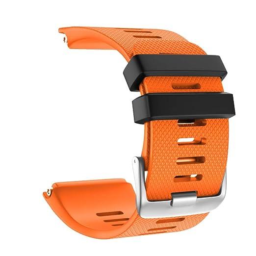 para Garmin vivoactive HR Correa de Reloj de Correa de Repuesto de Silicona de Deporte de Moda Silicona Suave de reemplazo Reloj Correa de muñeca Pulsera ...