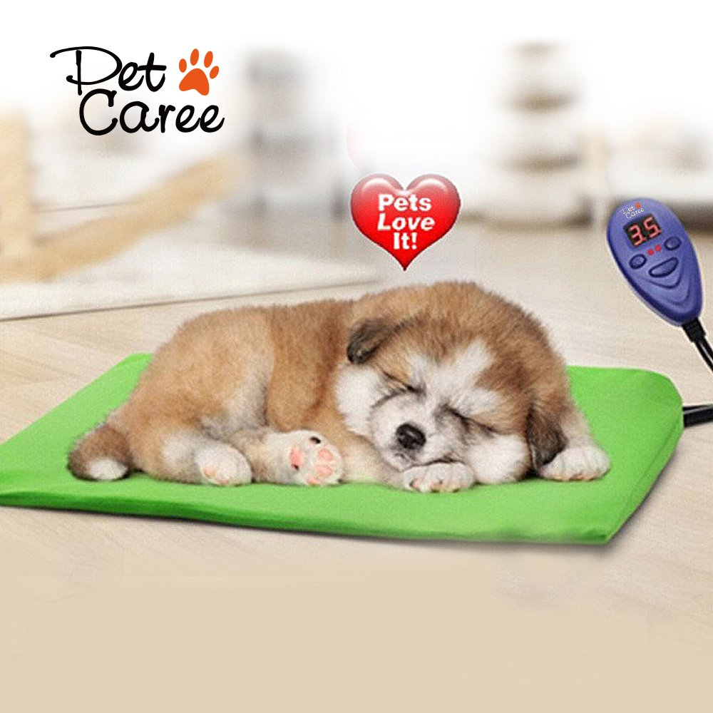 IB-SOUND Heating Pads for pets, Warming Dog Beds Pet Mat with Chew Resistant Cord Soft Removable Cover