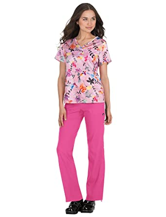 d9eb4834561 Amazon.com: KOI Lite Women's Nima V-Neck Animal Print Scrub Top ...