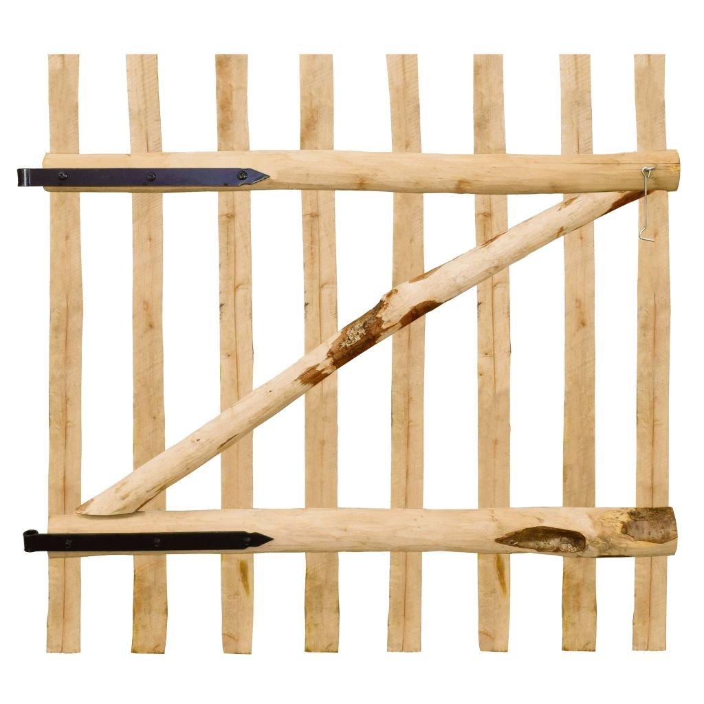 vidaXL Cancello Singolo per Recizione in Legno 100x100 cm Cancelletto Recinto