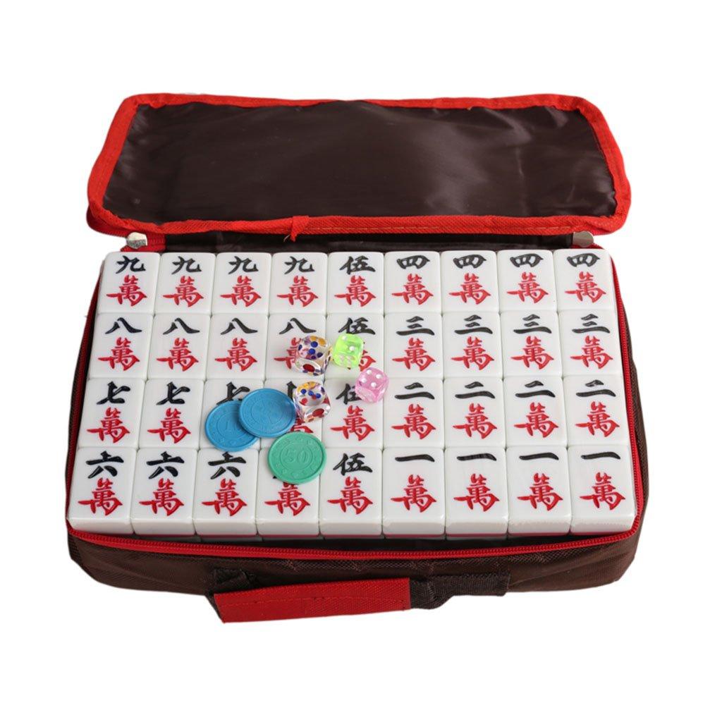 colores increíbles LI JING SHOP - Agua de color rosa casa Mahjong Mahjong Mahjong tarjeta / mano grande de frote Mahjong ( Tamaño : L-4.23.02.0CM (144 sheets) )  tienda de venta