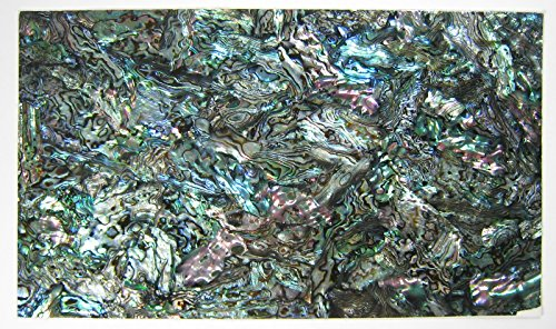 Shiny Paint Surface Flexible/Flat Enhanced Black/White/None Base Adhesive Veneer Sheet (Shiny Painted Cutline Sligtly Flexible, Dragon Abalone - Painted Base Green