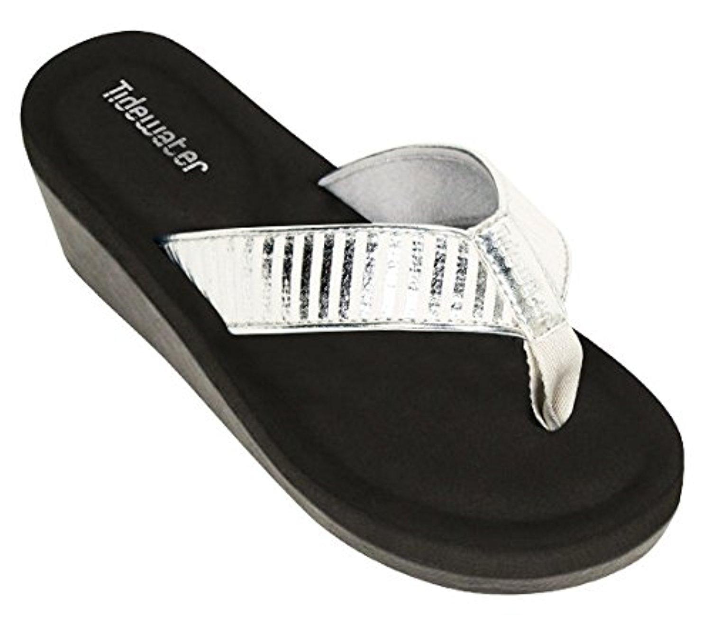 Tidewater Women's Onslow Wedge Sandals & Travel Sunscreen Bundle B073RNLHQ9 White 10 B(M) US|Silver / White B073RNLHQ9 733098