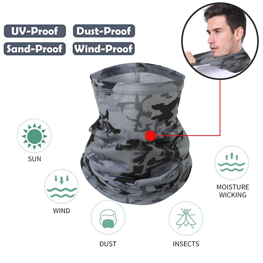 Goffu Neck Gaiter for Women and MenCool  Breathable Face Bandanas Seamless Half Face Scarf Cover