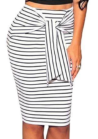 security - Falda - para Mujer Blanco Blanco US XXX-Large: Amazon ...