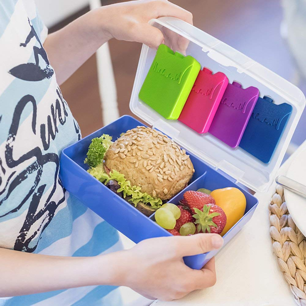 Picnic Hiking Camping Ice Pack Freezer Blocks for Lunch Box Cooler Bag Reusable Great for Kids School Lunch Boxes Small But Long Lasting Ice Packs