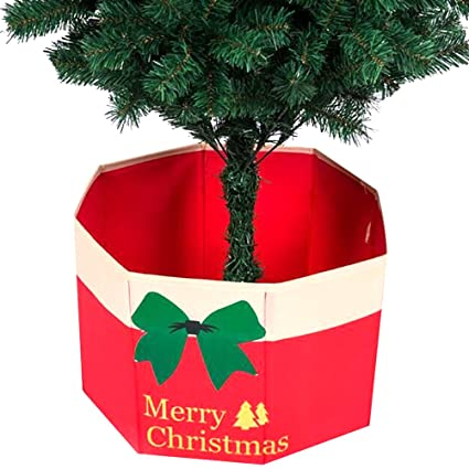 junke christmas tree stand storage box xmas tree base bottom decoration skirt holder ornament 1574