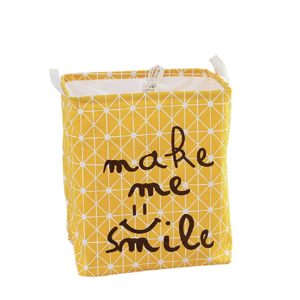 in cotone//lino pieghevole con coperchio A SFGHOUSE Cesto portabiancheria//giocattoli//vestiti quadrato