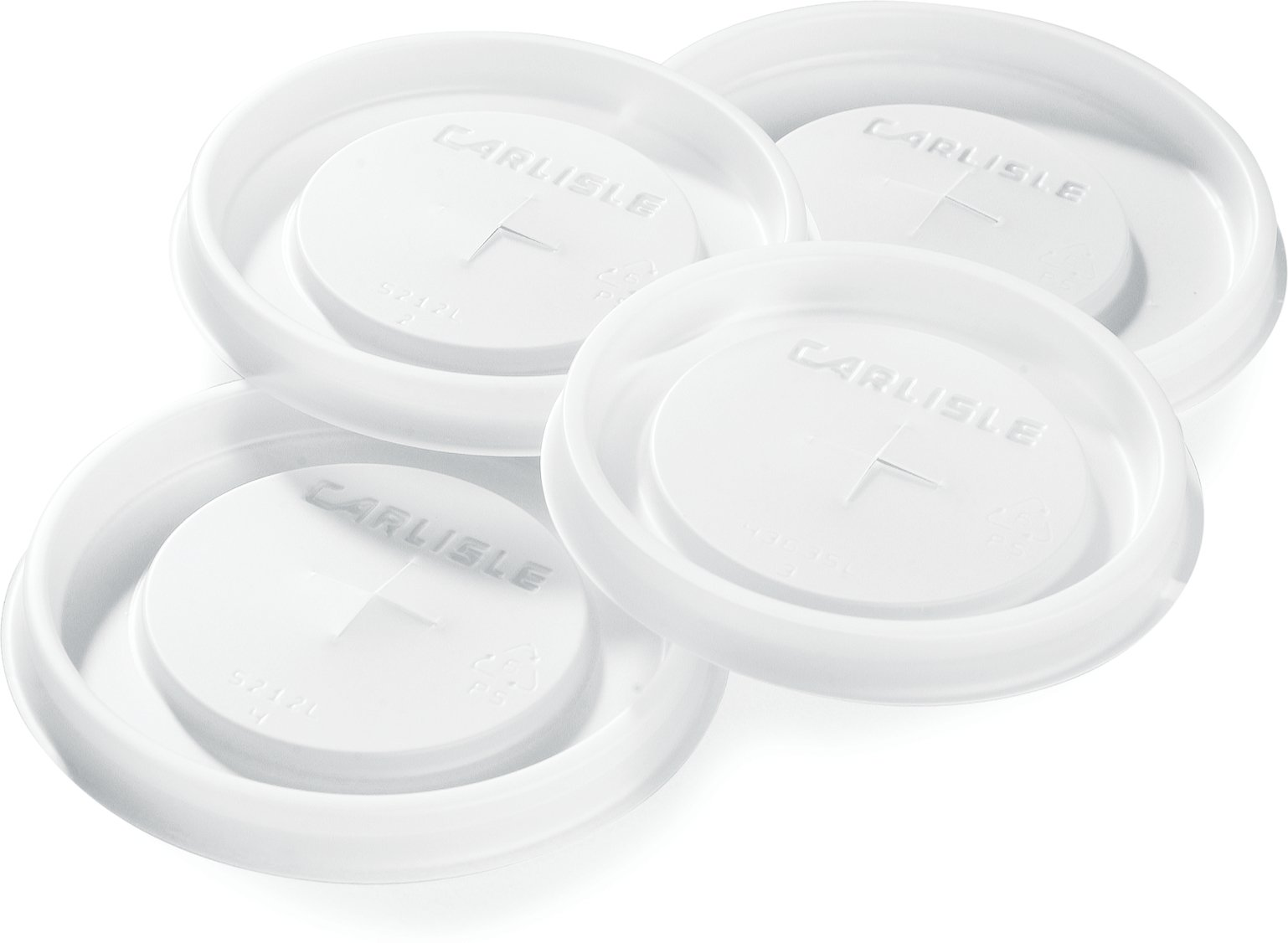 Carlisle 5109L30 Polystyrene Tumbler Lid for 9.5-oz., Translucent (Case of 1000) by Carlisle